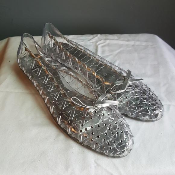 Stuart Weitzman Jelly Shoes Swarovski